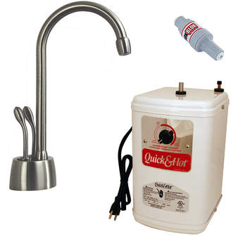 Westbrass Develosah 2-Handle Hot and Cold Water Dispenser with Tank D272H