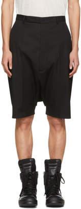 Rick Owens Black Tailored Pod Shorts