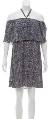 Rebecca Minkoff Printed Off-The-Shoulder Dress