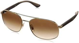 Ray-Ban Men's 0rb3593 Square Sunglasses