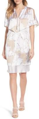 Kenneth Cole New York Capelet Cold Shoulder Dress