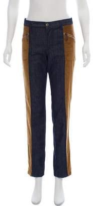 Dolce & Gabbana Corduroy-Paneled Mid-Rise Jeans