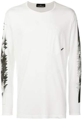 Stone Island Shadow Project graphic print long sleeve top