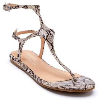 Matisse Pixie Snake Print Ankle Strap Sandal