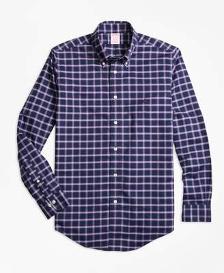 Brooks Brothers Non-Iron Madison Fit Windowpane Sport Shirt