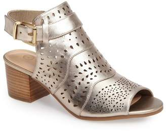 Bella Vita Fonda Perforated Block Heel Sandal