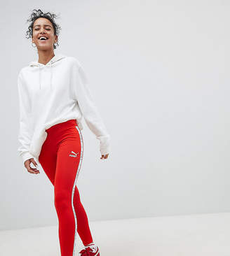 Puma Exclusive To ASOS Taped Side Stripe Leggings In Red