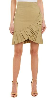 Isabel Marant Linen-Blend Pleated Skirt