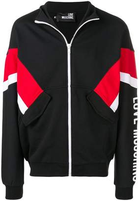 Love Moschino contrasting panel bomber jacket