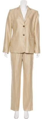 Calvin Klein Linen Blend Pantsuit Set