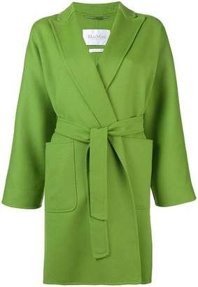 Max Mara wrap-aroud belted coat