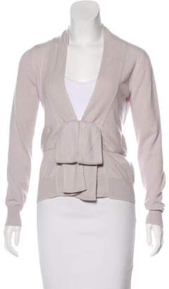 Louis Vuitton Cashmere Bow-Accented Cardigan
