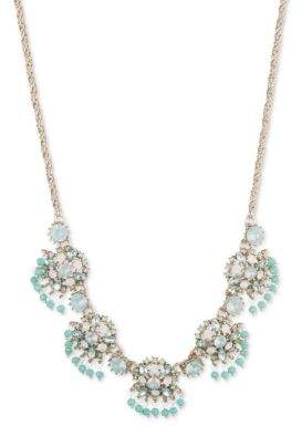 Marchesa Crystal Cluster Frontal Necklace