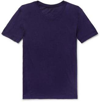 Secondskin - Slim-Fit Silk T-Shirt - Men - Purple