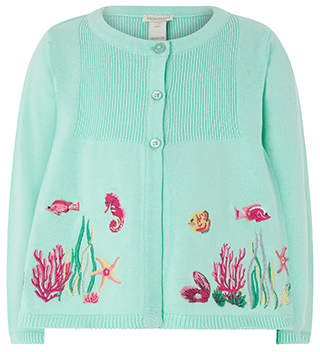 Monsoon Baby Ally Sea Scene Cardigan