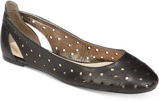 Nine West Marie Perforated Ballet Flats $79 thestylecure.com