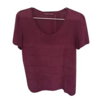 Comptoir des Cotonniers Purple Silk Top for Women