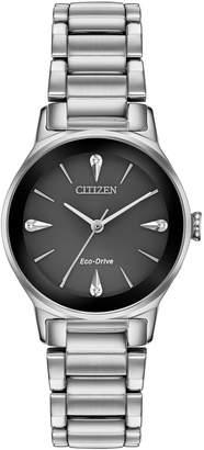 Citizen Axiom Eco-Drive Diamond Stainless Steel Bracelet Watch