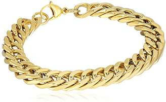 Crucible Jewelry Mens IP Stainless Steel Curb Chain Link Bracelet