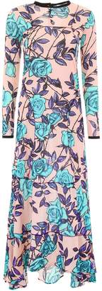 Scrambled Ego Long Dress With Roses