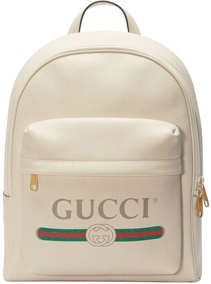 Gucci Print leather backpack