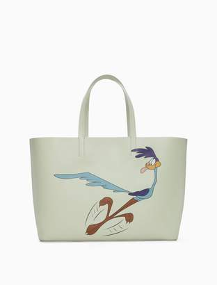 Calvin Klein road runner east/west soft tote in palmellato leather