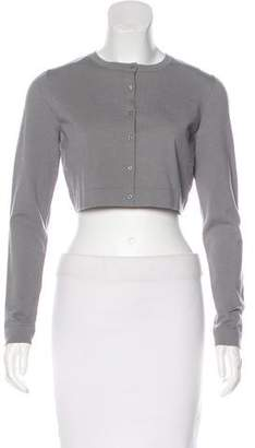 Alaia Cropped Wool Cardigan