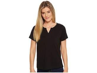 Woolrich First Forks Knit Split Neck S/S Tee II Women's T Shirt
