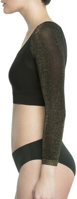 Spanx Arm Tights Metallic Shaper Crop Top