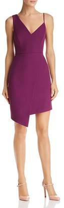 BCBGMAXAZRIA Asymmetric Crepe Dress