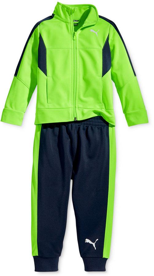 Puma Little Boys' 2-Pc. Tricot Track Jacket and Pants Set