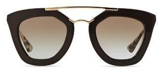 Prada Women's Brow Bar Cat Eye Sunglasses, 49mm