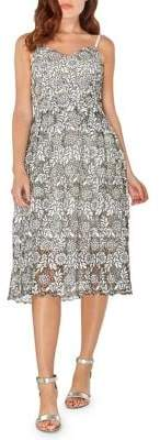Dorothy Perkins Monochrome Lace Fit-&-Flare Dress