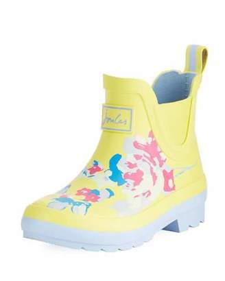 Joules Wellibob Floral Rubbed Rain Boot, Baby/Toddler/Kid