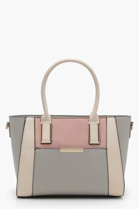 boohoo Colour Block Tote