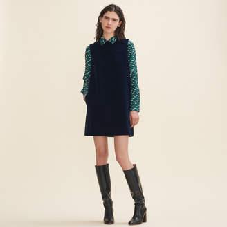 Maje Velvet A-line dress