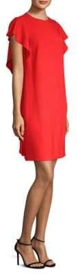 Escada Women's Dlat Ruffle-Side Shift Dress - Red - Size 44 (14)
