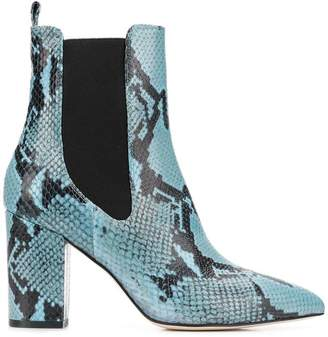 Paris Texas python embossed boots