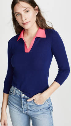 Jumper1234 Contrast Polo Cashmere Sweater