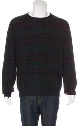Ralph Lauren Purple Label Cashmere Plaid Sweater