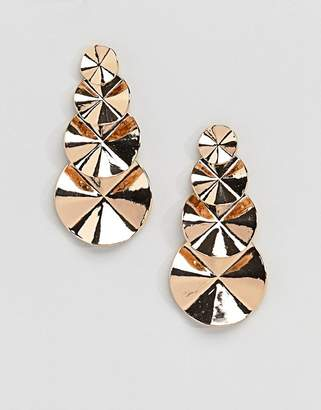 Aldo Circle Tiered Gold Earrings