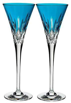 Waterford Crystal Set of 2 Lismore Pops Toasting Flutes