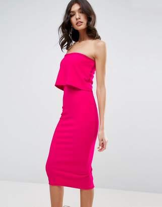 ASOS Crop Top Midi Bodycon Dress $60 thestylecure.com