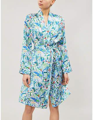 Derek Rose Brindisi silk-satin dressing gown