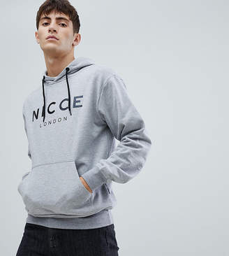Nicce London hoodie in gray with large logo exclusive to asos