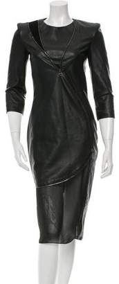 Altuzarra Leather Zipper-Embellished Dress