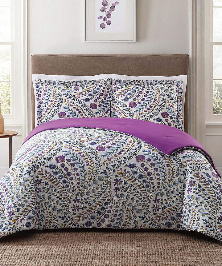 White Nealy Floral Cotton Comforter Set