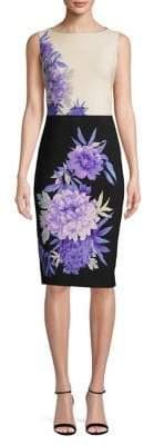 Gabby Skye Floral Print Midi Dress