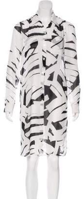 DKNY Abstract Print Midi Dress