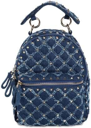 Valentino Spike Denim Backpack